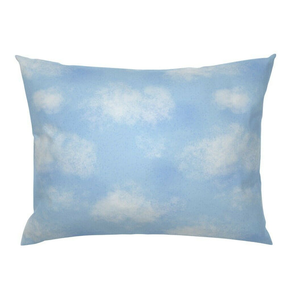 Blue Skies White Clouds Nursery Decor Cloudy Sky Pillow Sham by Roostery