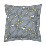 Winter Mod Yellow Bird Botanical Modern Holiday Decor Pillow Sham by Roostery