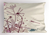 Dragonfly Wings Pillow Sham Decorative Pillowcase 3 Sizes Bedroom Decoration