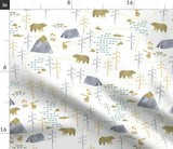 Bears Woodland Watercolor Nursery Decor Kid' Room Baby Pillow Sham by Roostery
