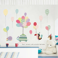Colorful Balloons Wall Decals Wall Sticker Baby Nursery Kids Room Decor Art DIY