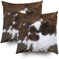 Tomwish 2 Packs Hidden Zippered Pillowcase Christmas Cowhide Accent 18X18Inch,De