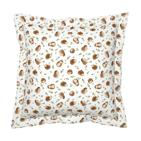 Watercolor Hedgehog Woodland Nursery Decor Baby Boy Girl Pillow Sham by Roostery