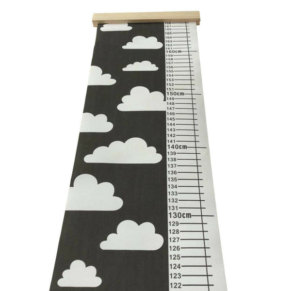 Children Height Growth Chart Measure Wall Hanging Ruler Baby Kids Room Decor ADF