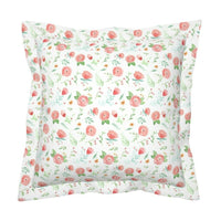 Watercolor Floral Modern Nursery Decor Boho Wedding Pillow Sham by Roostery