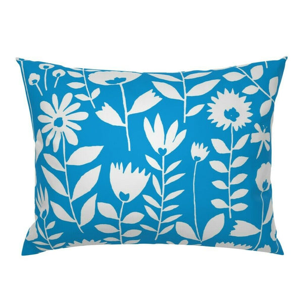 Floral Butterflies Garden Spring Decor Flowers Pillow Sham by Roostery