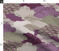 Clouds Modern Nursery Decor Purple Cloud Sky Yoga Pillow Sham by Roostery