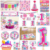 Sweet Birthday Girl Party Baby 1st Birthday Decorations Tableware Balloons