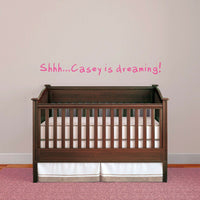 Personalized Name Baby Dreaming Wall Sticker Customize Sleep Decal Nursery Decor