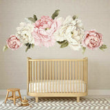 Giant Peony Rose Flower Wall Sticker Girls Room Decal Baby Nursery Decor Mural