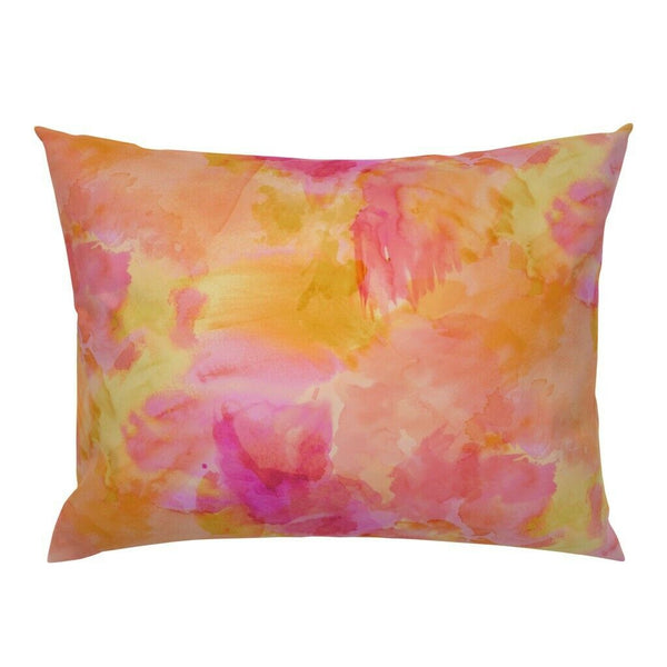 Watercolor Sunset Summer Modern Decor Tropical Colorful Pillow Sham by Roostery