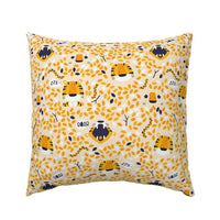 Sleeping Tiger Orange Nursery Decor Wild Leaves Hidden Pillow Sham by Roostery