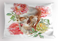 Skull Pillow Sham Decorative Pillowcase 3 Sizes Bedroom Decoration