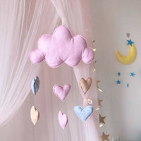 1pc Cloud Raindrop Hanging Decor Love Heart Baby Nursery Ceiling Decor