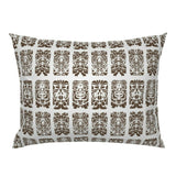 Tiki Faces Hawaiian Summer Beach Decor Hawaii Brown Pillow Sham by Roostery