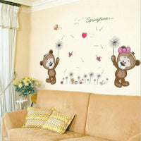 Wall Decals Bears Pattern Wall Stickers Removable Lovely Baby Bedroom Decor CF