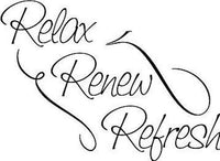 Relax Renew Refresh Vinyl Wall Home Decor Decal Cute Quote Inspiration Adorable