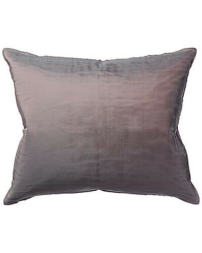 "$250! NWT Ann Gish 100% Silk Pleated Decorative Pillow Sham - 22"" x 18"" - Opal"