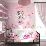 Disney Minnie Mouse Wall Stickers For Kids Baby Girls Rooms Nursery Home Decor