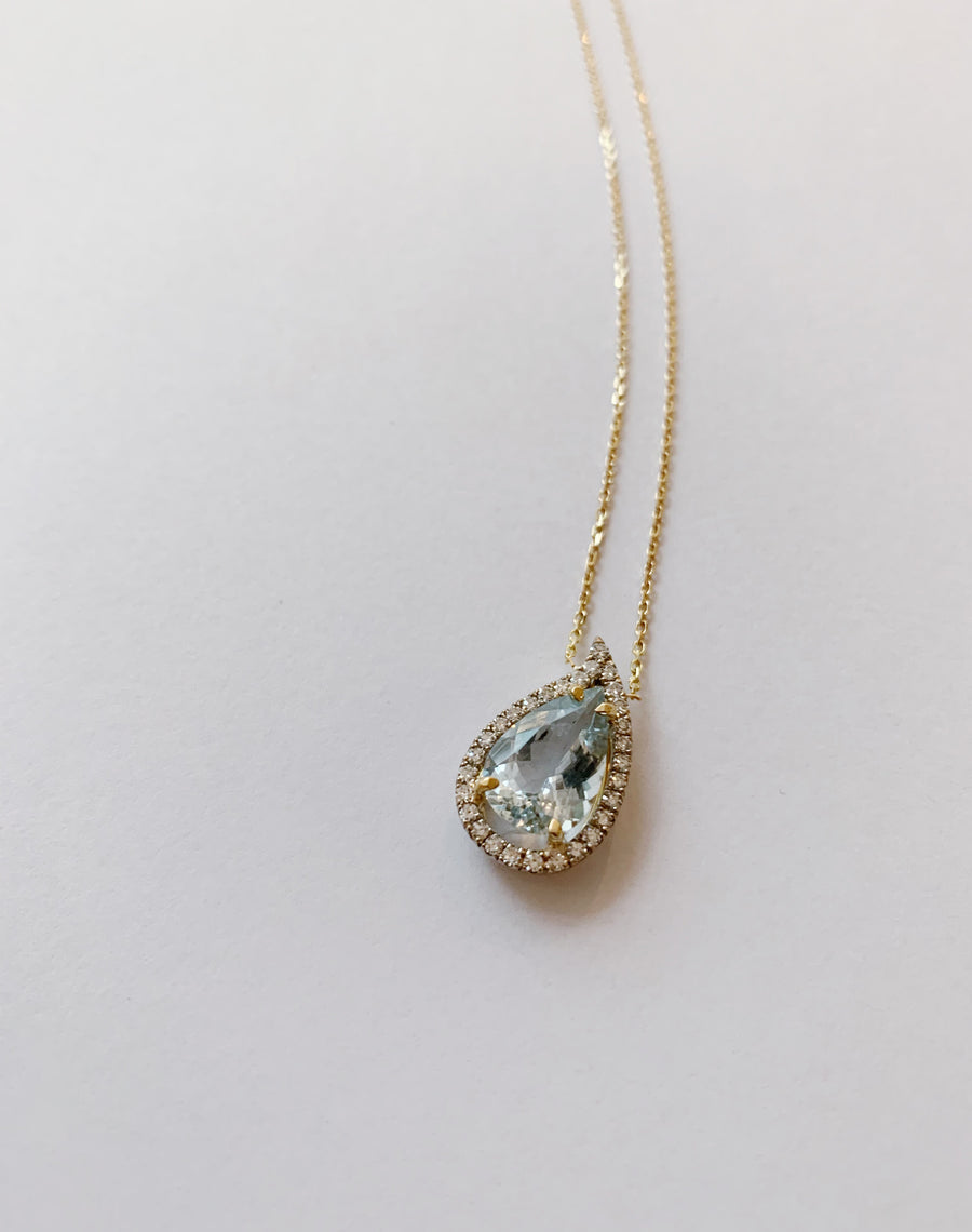 BLUE DROP NECKLACE