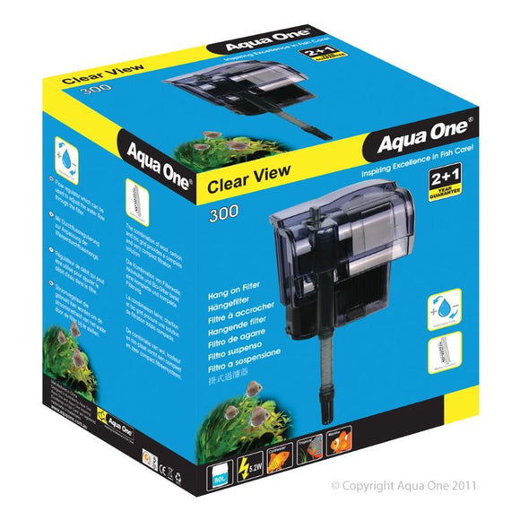 Aqua One 300 ClearView Hang On Filter 300 L/Hr