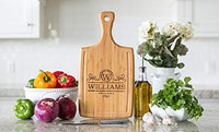 Qualtry - Personalized Wood Cutting Boards - Perfect Gifts For Weddings, Bridal Showers, and Housewarmings - (10 x 15 Mahogany Rectangular, Nielson Design)