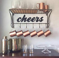 Cheers Sign, Rustic Word Art Sign, Cheers Art, Housewarming Gift Idea, Bar or Kitchen Decoration
