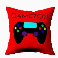 TOMKEY Hidden Zippered Pillowcase Gamer Game Controller 18X18Inch,Decorative Throw Custom Cotton Pillow Case Cushion Cover for Home Sofas,bedrooms,Offices,and More,Black Green