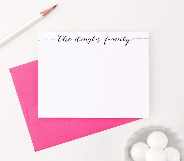 Personalized Family Stationery Set, New Home Gift Ideas, Personalized Family Note Cards, Housewarming Gifts for Couple, Your Choice of Colors and Quantity