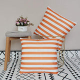 U-LOVE 2Pack Black&White Striped Pillow Covers Morden Simple Life Throw Pillowcases Home Decorative Cushion Covers 18×18 inch,Super Soft for Bed/Couch/Sofa/Car