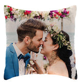 Custom Photo Pillow Cases | Personalized Decorative 16x16 Throw Pillow Cover w / Any Picture Box | Burlap Throw Pillowcase - Home Decor, Decorative Canvas Cushion Cover for Couch or Sofa - Photo Gifts