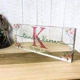Artblox Personalized Wedding Gifts | Last Name Signs for Home Art Prints On Acrylic Block Name Plates for Desks | Wedding Shower Gifts | Housewarming Gifts for Couples | Cool Wedding Gifts - (12x5)