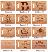 LPLED Personalized Cutting Board, Custom Name Engraved Bamboo,Personalized Gifts-Home, Kitchen Gifts,Parents Grandparents Gifts,Housewarming Gifts (7x11, Bamboo-10)