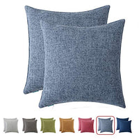HPUK Decorative Pillow Covers 2 Pack Throw Pillows Covers Couch Pillow Covers Farmhouse Pillowcase 17X17 for Couch, Sofa, Bedroom, Grey