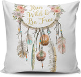 DOUMIFA Home Throw Pillow Case Coloured Boho Dreamcatcher Tribal Feather Nursery Square Decorative Pillowcase Cushion Cover Both Sides Same Colored Printing 20X20 inch (1-Pack)