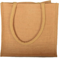 Natural Burlap Jute Tote Bags Reusable 19.8 L (Pack of 5) (Large)