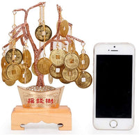 Guanso Chinese Money Tree Ornaments Pure Copper Lucky Rich Tree Ingots Copper Money Tree Crafts Opening Living Room Office Decorations Housewarming New Home Gift Diamonds Throne