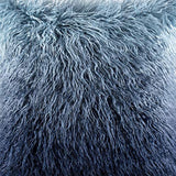 MIULEE Pack of 2 Decorative New Luxury Series Style Light Blue Faux Fur Throw Pillow Case Cushion Cover for Sofa Bedroom Car 18 x 18 Inch 45 x 45 cm