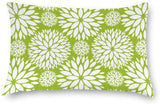 "wonbye Bold Lime Green Floral Pattern Throw Pillow Covers Case Cushion Pillowcase with Hidden Zipper Closure for Sofa Bench Bed Home Decor 12""X20"""