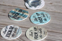 Don't Fuck Up the Table Drink Coasters, Coasters, Housewarming Gift, Couples Gifts, Happy Engagement Gifts, Cool Gift Ideas, Set of 4 No Holder (12368 DFUTT Colored Boards)