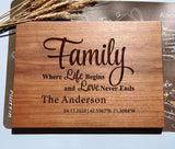 Housewarming Gifts, Personalized Cutting Board for New Home, First Home, Custom Wedding Anniversary Gifts for Family Parents Couples friend Uncle Aunt