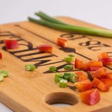 Custom Catch Personalized Cutting Board Wedding Gift - Durable Bamboo (Scroll)