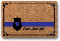 "BXBCASEHOMEMAT Come Home Safe Doormat, Police Doormat, Wedding Gift, Closing Gift, Newlywed Gift, Housewarming Gift, Welcome Mat 23.6"" x 15.7"""