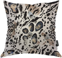 Moslion Leopard Pillows Wild Animal Tiger Lion Snake Leo Skin Fur Spots Stripes Throw Pillow Cover Decorative Pillow Case Square Cushion Accent Cotton Linen Home 18x18 Inch