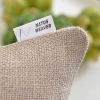 "NATUS WEAVER Soft Linen Blended Burlap Square Throw Pillow Covers Accent Cushion Cover Pillowcase for Sofa Bedroom Car, 20"" x 20"", Natural Linen, 1 Pair"
