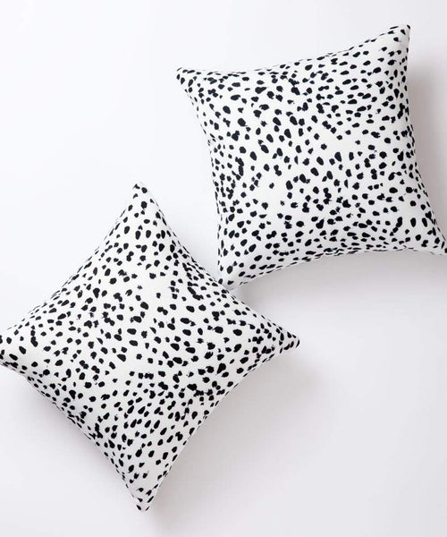 Pantaknot Dalmatian Spots Decorative Throw Pillow Covers Set of 2 Dog Dots Pillowcase Cushion Home Décor, 18 x 18 Inch