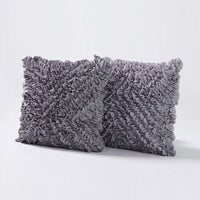 "MoMA Decorative Throw Pillow Covers (Set of 2) - Pillow Cover Sham Cover - Dark Grey Throw Pillow cover - Decorative Sofa Throw Pillow Cover - Square Decorative Pillowcase - Grey - 18"" x 18"""