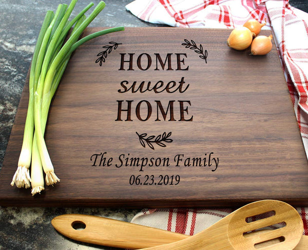Housewarming Gifts, Personalized Cutting Board for New Home Owner, Couples, Friends, Parents, Unique Anniversary Presents for Mother's day, Thanksgiving
