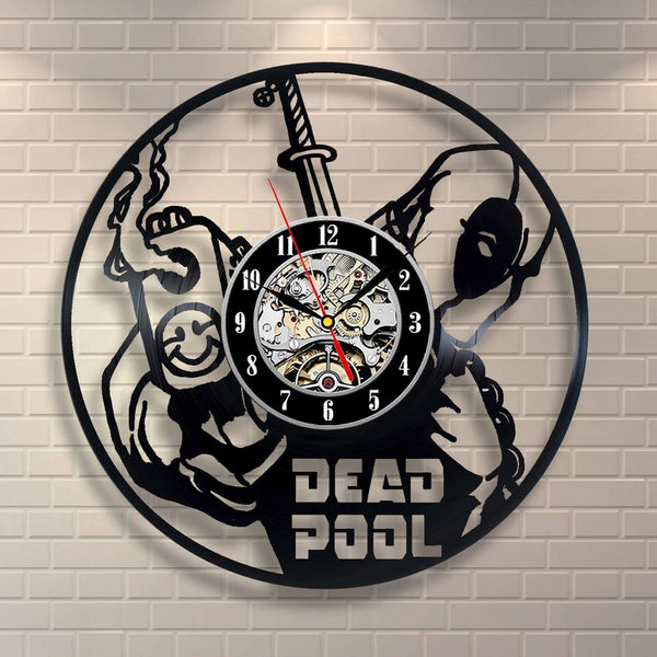 Everyday Arts Deadpool Superhero Film Wall Clock Birthday Gift for Him Her Unique Gift New Year Gift for Teens Youth Friendship Gift Idea Housewarming Gift