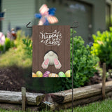 ALAZA Easter Bunny Burlap Garden Flag Double Sided,House Yard Flags,Holiday Seasonal Outdoor Decorative Flag 28x40 Gift
